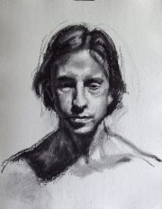 Ashley, Charcoal on Paper, 23 x 18 inches, SOLD