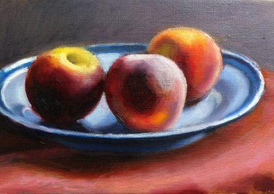 Oil on canvas Peaches