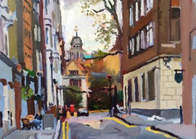 Painting of Charterhouse Street, London