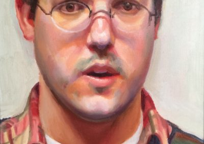 Oil on Canvas Self-portrait