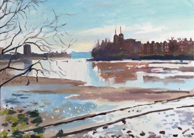 Oil on canvas Morning Light, Hammersmith