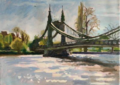 Oil on canvas Hammersmith Bridge