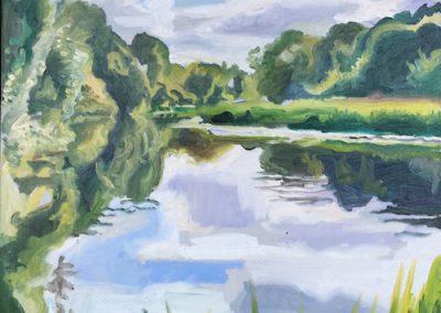 Oil on canvas River Nene Peterborough