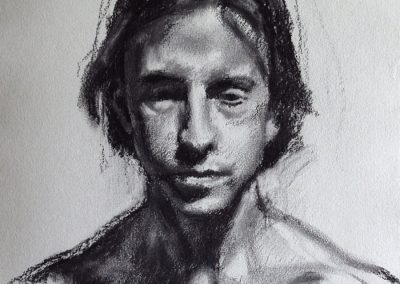 Charcoal on Paper Ashley