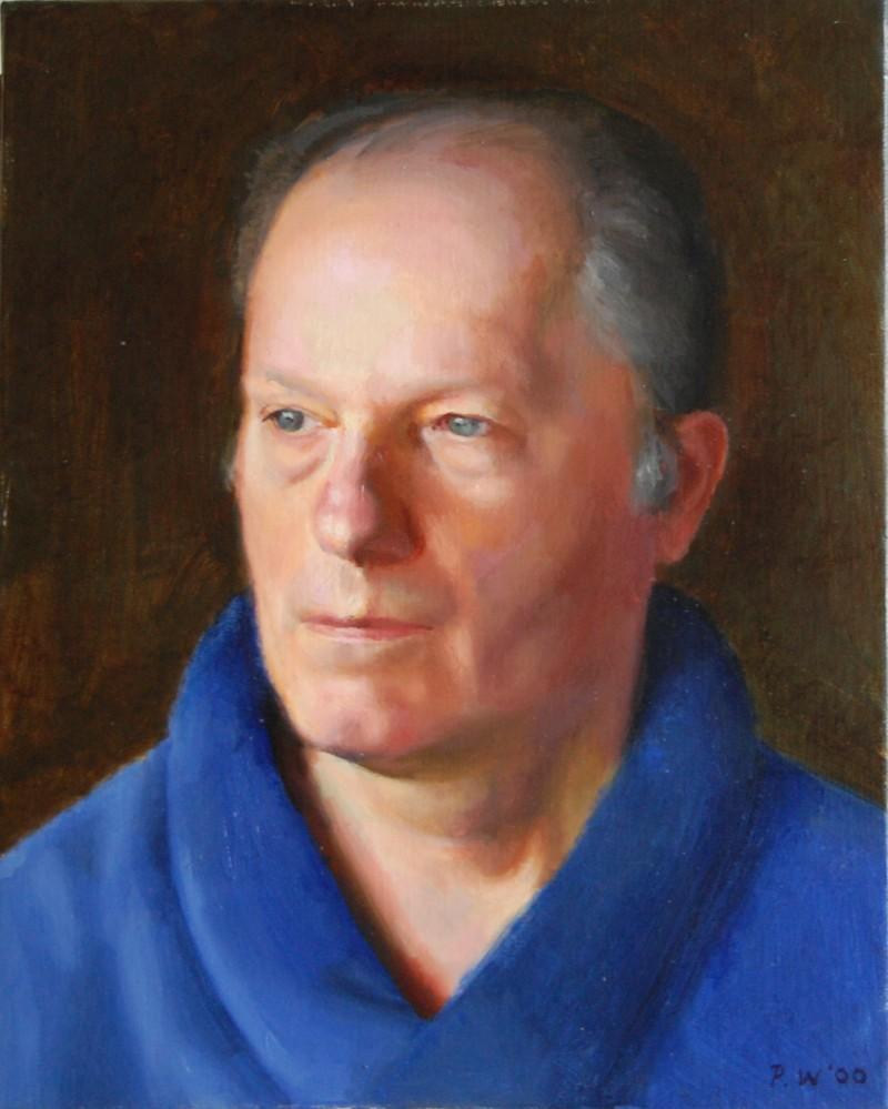 Portrait of my dad with a nod to Van Eyck
