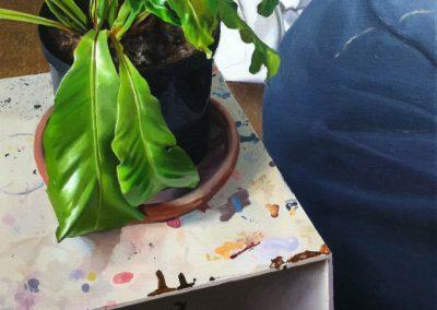 Detailed still life with bird's nest fern